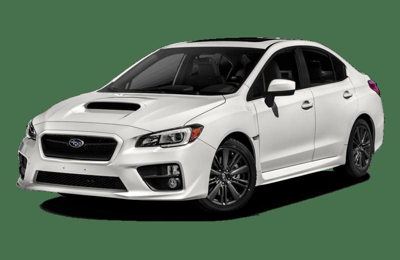 A white Subaru WRX