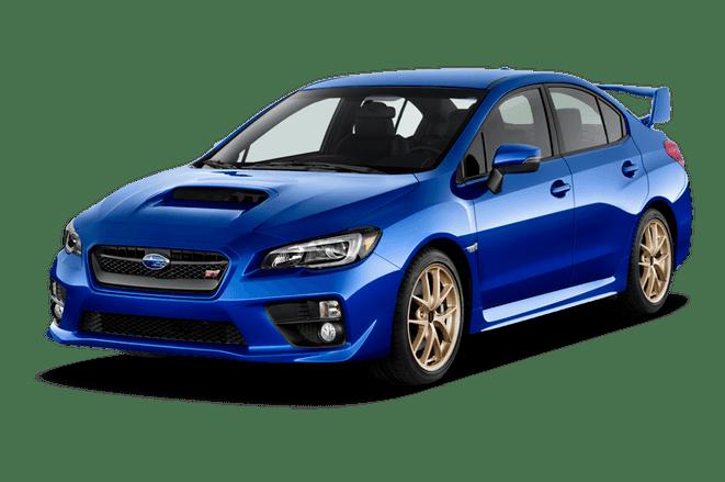 A blue Subaru WRX STI